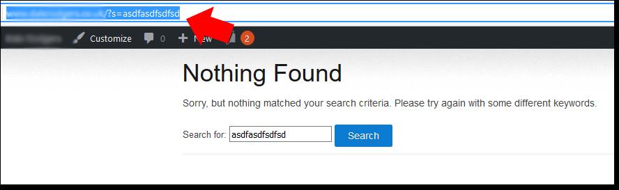WordPress Nothing Found Page