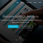 Screenshot of the AWOL Academy homepage