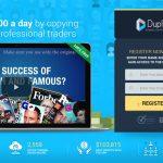 Duplicash Homepage Screenshot