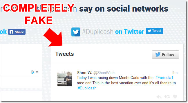 Faked Social Proof