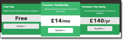 MatchedBets Pricing Plans