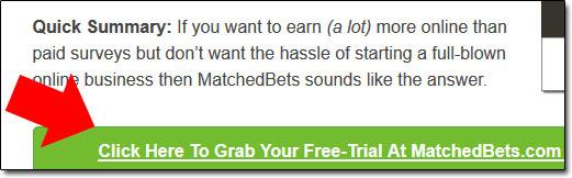 MatchedBets Review Screenshot