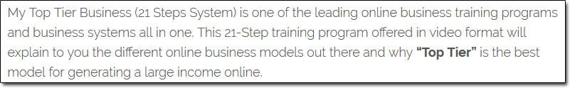 MOBE 21 Steps Program Description