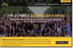 My Online Business Empire Homepage Screenshot