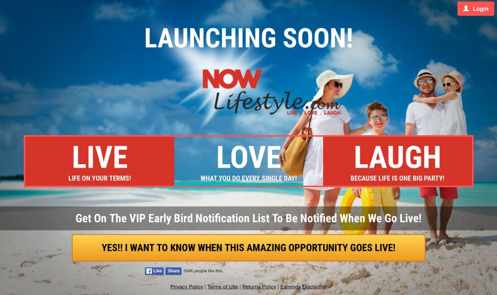 Now Lifestyle Homepage Screenshot