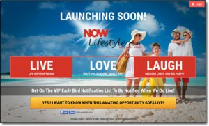 Now Lifestyle Website Screenshot