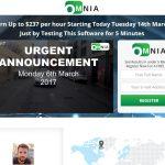 Screenshot of the Omnia App homepage