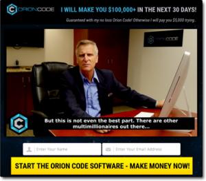 Orion Code homepage screenshot