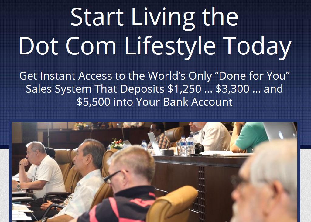 Ultimate Dot Com Lifestyle Homepage Screenshot