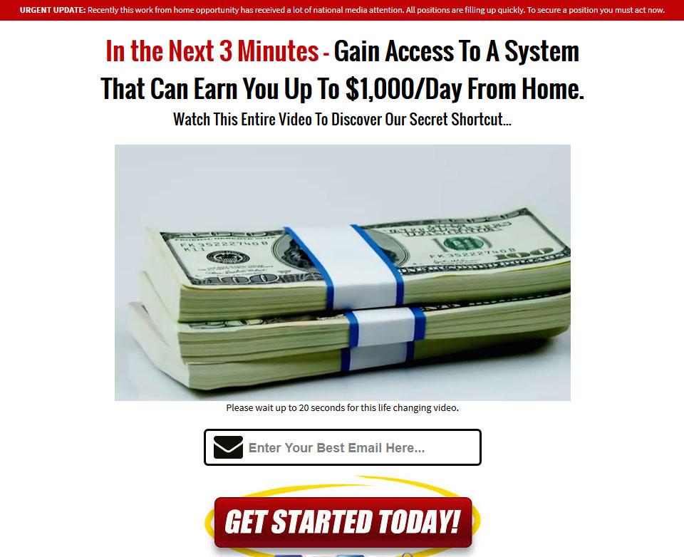 Screenshot of the Aspire Millionaires Homepage