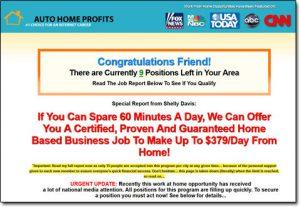 Thumbnail Screenshot of the Auto Home Profits Website
