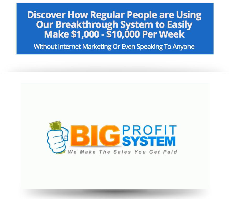 Big Profit System Homepage Screenshot