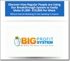 Big Profit System Homepage Screenshot Thumbnail