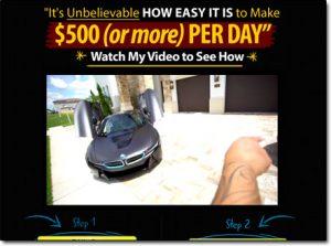 Screenshot of the Daily Income Method Homepage
