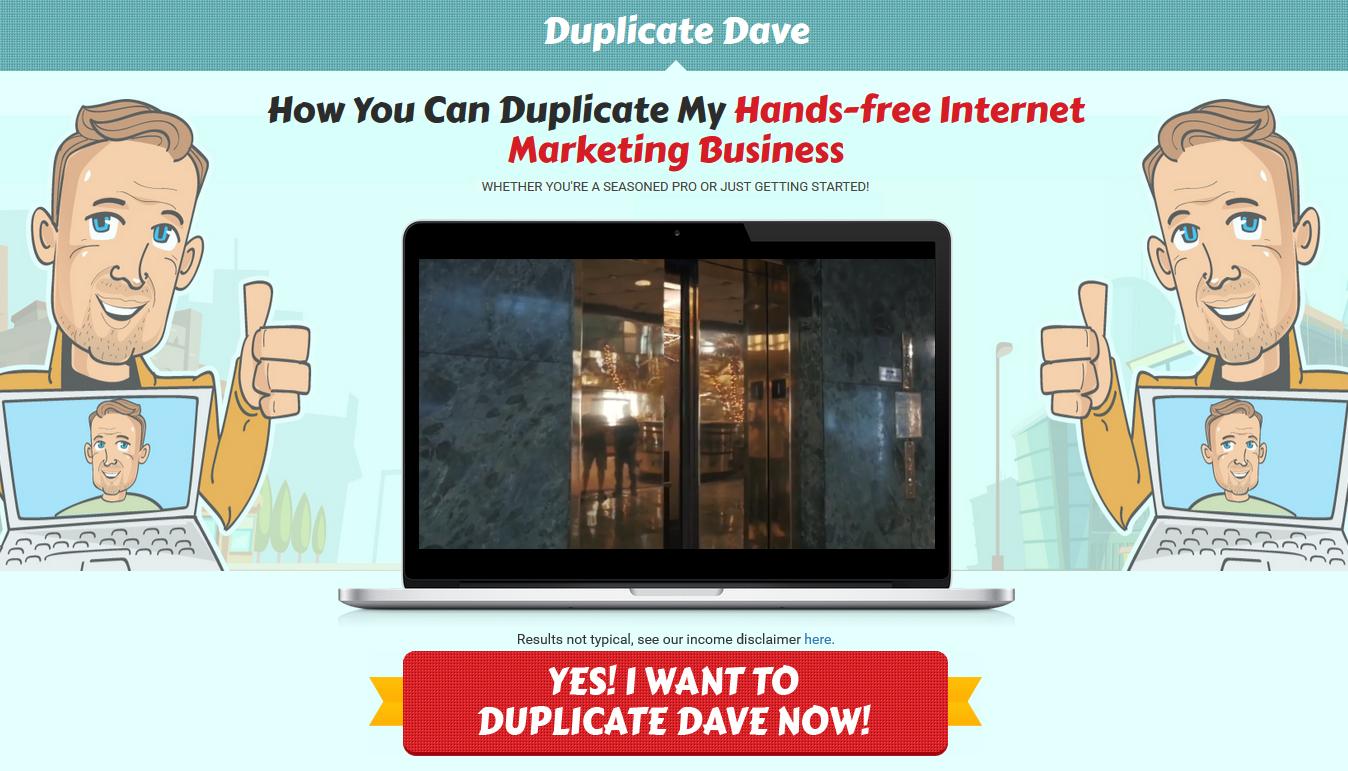 Duplicate Dave System Homepage Screenshot
