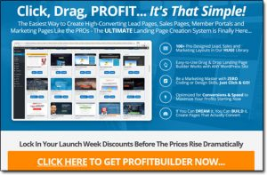Profit Builder 2.0 Homepage Screenshot Thumbnail
