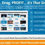 Profit Builder 2.0 Homepage Screenshot
