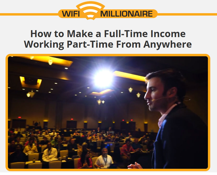 WiFi Millionaire Homepage Screenshot