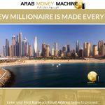 Screenshot of the Arab Money Machine Homepage