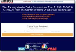 Automated Millionaire Homepage Screenshot Thumb