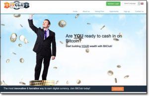 Screenshot of BitClub Network Homepage Thumb