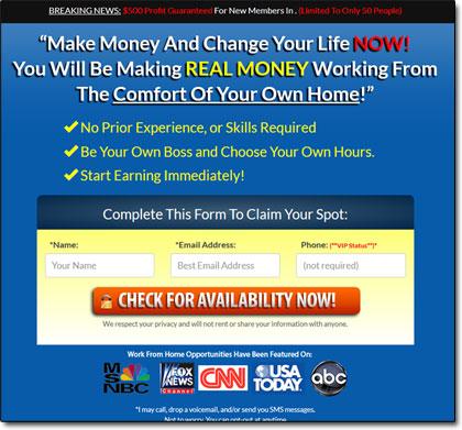 Countdown To Profits Website Screenshot