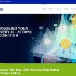 Screenshot of the JetCoin homepage