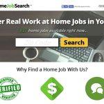 Screenshot of My Home Job Search Website