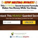 My Secret Income Formula Homepage Screenshot