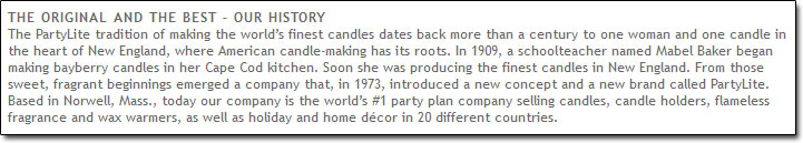PartyLite History