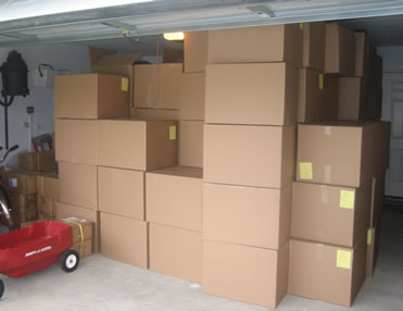 Garage Filled With Boxes