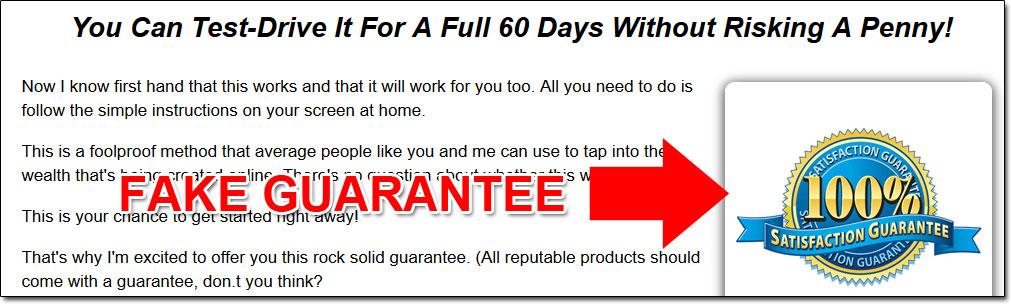 Home Job Placement Fake Guarantee Screenshot