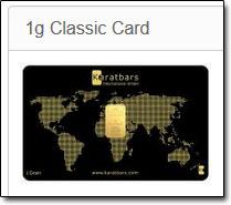 Example Karatbars Gold Card