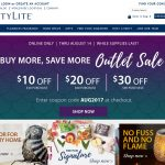 Screenshot of PartyLite Homepage