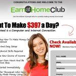 Earn at Home Club Homepage Screenshot
