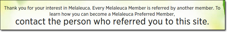 Melaleuca Product Purchase