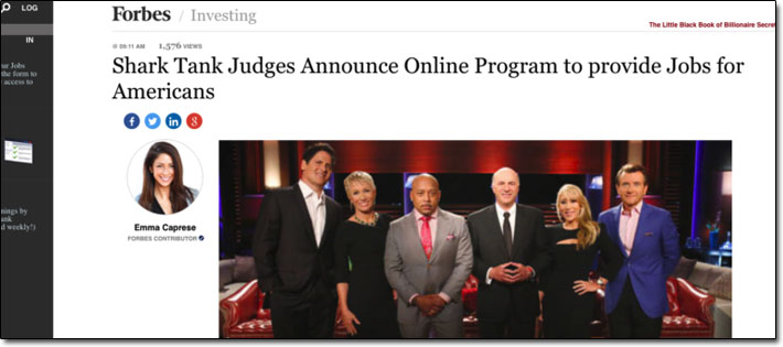 Entrepreneur Jobs Club Shark Tank Judges