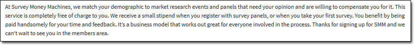Survey Money Machines Website Disclaimer