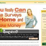 Screenshot of the Survey Money Machines Homepage