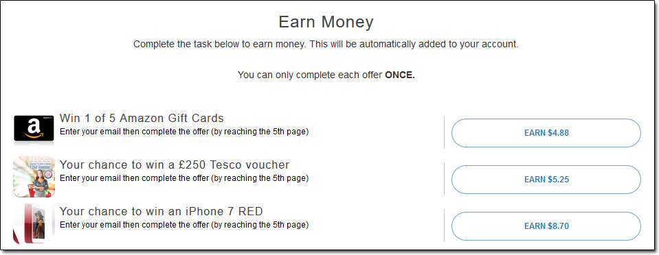 Teens Earn Cash Surveys Screenshot