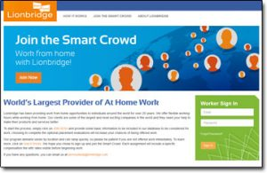 The Smart Crowd (Lionbridge) Homepage
