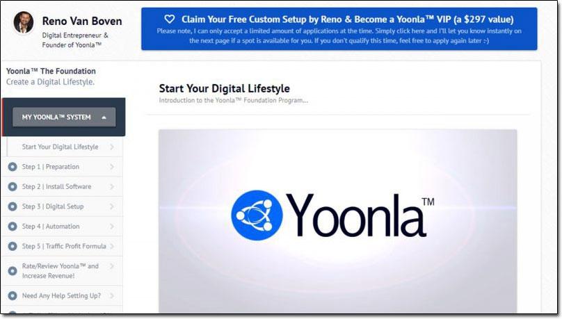 Yoonla Dashboard Screenshot