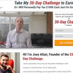 30 Day Challenge Homepage Screenshot