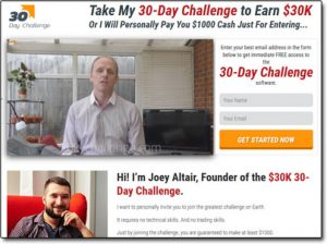 30 Day Challenge Homepage