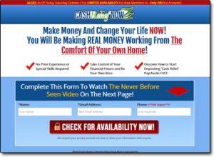 Cash Relief Now System Website