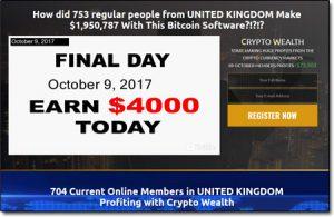Crypto Wealth Homepage Screenshot