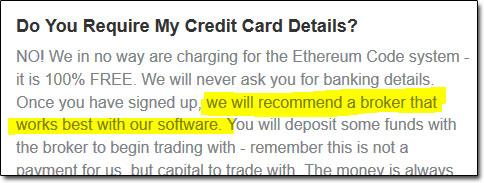 Ethereum Code Recommended Broker