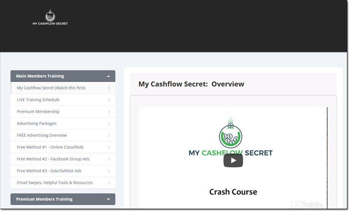 My Cash Flow Secret Members Area