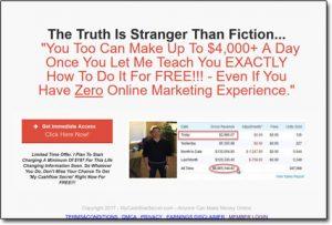 My Cash Flow Secret Website Screenshot