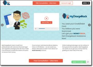 MyChargeBack.com Website Screenshot